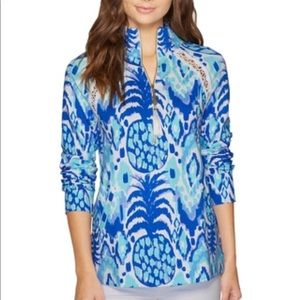 Lilly Pulitzer Skipper Popover Pineapple Sweater M